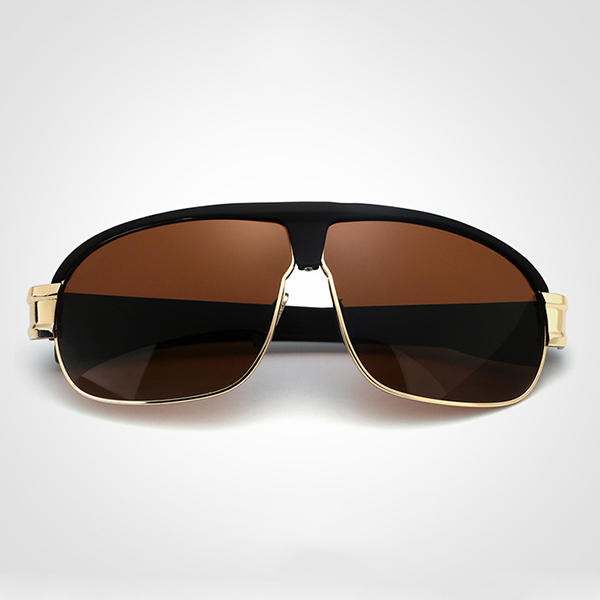 Mens Summer V400 Polarized Sun Glassess Casual Outdooors Metal Frame Anti Glare Eye Wear - Slabiti