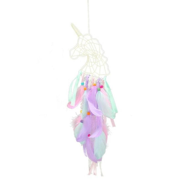 Unicornio Pendant Feather Dream Catcher Indian Crafts Wall Hanging Large Wind Chimes Dream Catcher Decorations - Slabiti