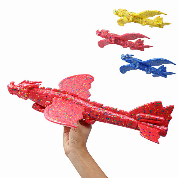 48cm Inertial Foam EPP Plane Toy Chinese Dragon Hand Launch Throwing Glider Aircraft - Slabiti