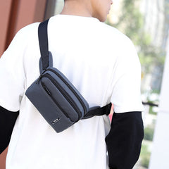Men Fashion Light Weight Crossbody Bag Chest Bag Waist Bag - Slabiti