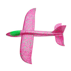 35cm Hand Launch Throwing Aircraft Airplane Glider DIY Inertial Foam EPP Plane Toy With Led Light - Slabiti