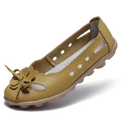 Hollow Out Breathable Casual Flats Shoes For Women - Slabiti