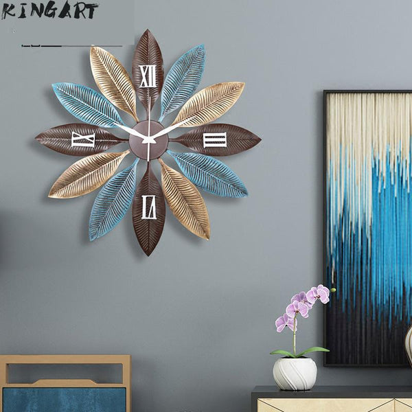 60cm Large Silent Wall Clock Modern Design Clocks for Home Decor Office European Style Hanging Wall Watch Clocks - Slabiti