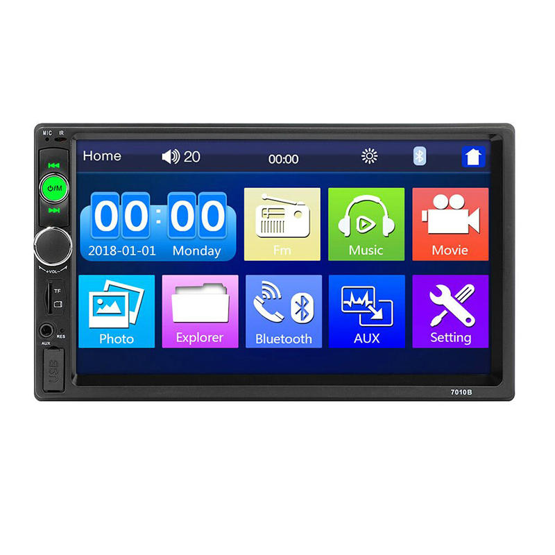 Upgraded 7010B 7 Inch Car Stereo Radio MP5 Player IPS Full View HD Touch Screen Support DSP bluetooth FM USB AUX - Slabiti