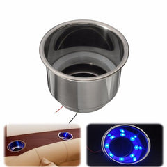 LED Stainless Steel Cup Drink Holder For Marine Boat Car Camper - Slabiti