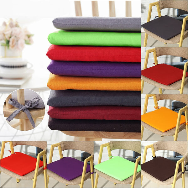 Pongee Colorful Square Cushion Home Car Chair Seat Pad Seat Cushion - Slabiti