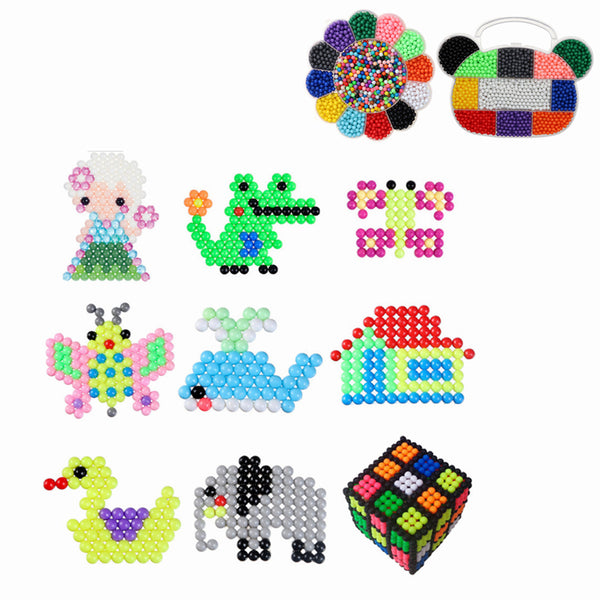 3000pcs Bear Head/Plum DIY Fuse Beads Water Beads Sticky Beads Art Craft Toys Kids - Slabiti
