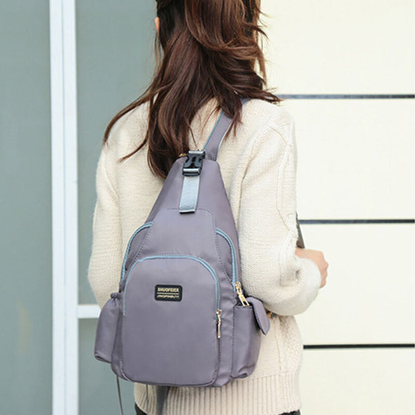 Fashion Casual Multifunctional Anti-theft Chest Bag Crossbody Bag Backpack For Women - Slabiti