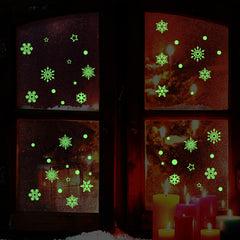 Creative Snow Fluorescent Luminous Paste Stickers Night Light Living Bedroom Decorative Wall Sticker - Slabiti