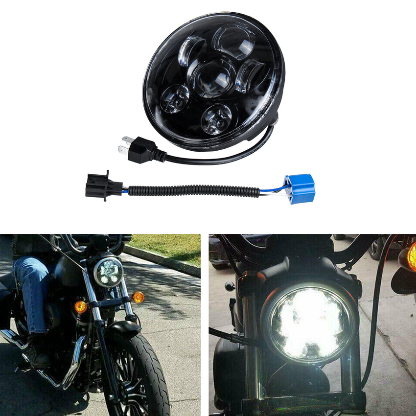 5.75 Inch H4 H13 Motorcycle LED Headlights Sealed Projector Hi-Lo Beam Head Lamp For Harley - Slabiti