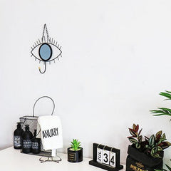 Modern Wall Hanging Simple Wrought Iron Hook Mirror Room Ornament Home Decorations - Slabiti