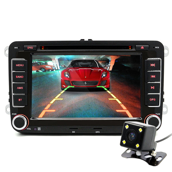 Junsun 7 Inch 2 Din Car Stereo Radio DVD Player GPS HD Touch Screen bluetooth FM AM for VW Golf 5 6 Touran Passat B6 Sharan Jetta Polo - Slabiti