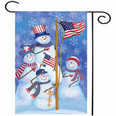 12.5  x 18  Christmas Snowmen Winter Welcome House Garden Flag Yard Banner Decorations - Slabiti