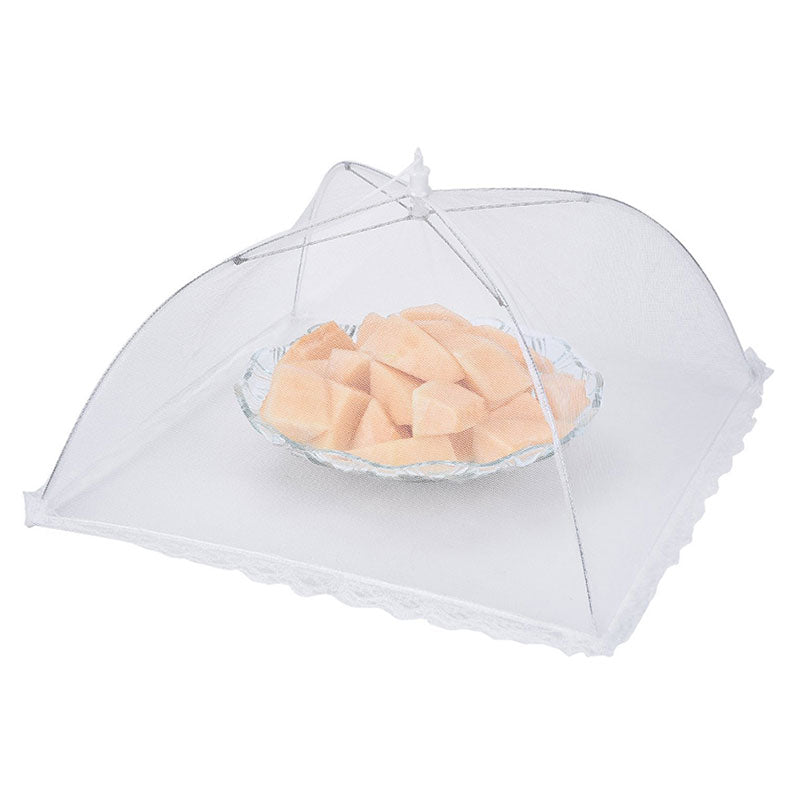 Folding Fly-proof Dirt-resistant Food Shield Gauze Umbrella Food Cover Kitchen Anti Fly Mosquito Net - Slabiti