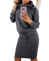 Long Sleeve Turtleneck Solid Sweatshirt