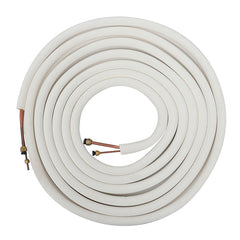 10m Air Conditioner Coil Tube 1/4'' 3/8'' Insulated Copper Wire Pipe Split Line Wire - Slabiti