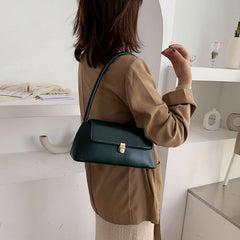 Women Solid Casual Shoulder Bag Handbag - Slabiti