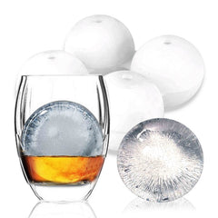 KCASA KC-IM01 4 Spherical Round Silicone Ice Lattice Cube Mold Maker Tray Whiskey Cocktail Party - Slabiti
