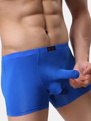 Mens Elephant Underwear Breathable Thin Pure Color Boxer Briefs - Slabiti
