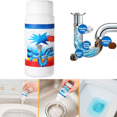 110g Powerful Sink & Drain Tube Cleaner Powder Unblocker Kitchen Toilet Bathroom - Slabiti