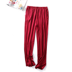 Mens Soft Comfy Sleepwear Modal Breathable Casual Home Pants - Slabiti