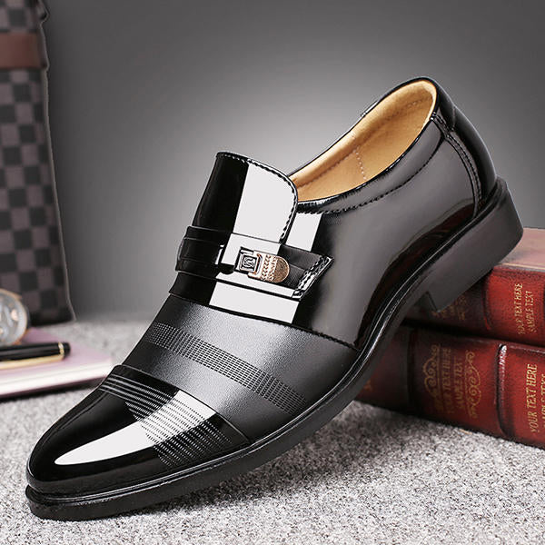 Men Comfortable Leather Business Lace Up Formal Shoes - Slabiti