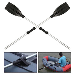 123cm Aluminum Detachable Float Afloat Oars Paddles Inflatable Boat Kayak Raft Canoe Water Sports - Slabiti