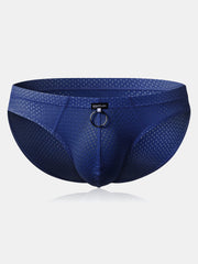 Mens Mesh Breathable Front Ring U Convex Pouch Brief Underwear - Slabiti
