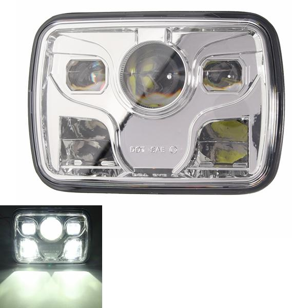 7x6inch LED DRL 32W HID Bulbs High/Low Beam Front Headlight Headlamp Assembly - Slabiti