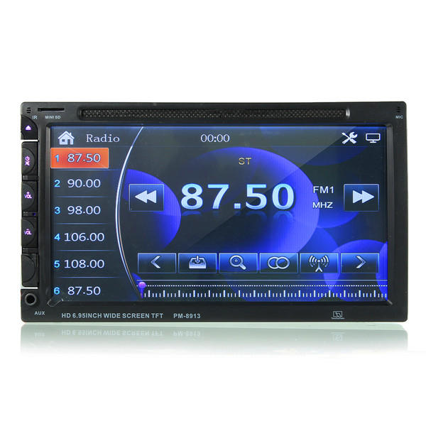 7 Inch Double Din Car DVD/USB/SD Player bluetooth Radio AUX HD Camera Touch Screen - Slabiti