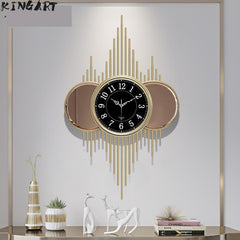 80CM Living Room Metal Wall Clock Bedroom Quiet Iron Clock Home Decorative Metal Wall Watch Silent Decorative Hanging Wall Clock - Slabiti