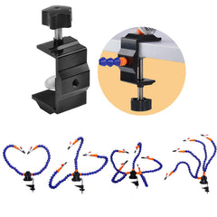 Welding Helping Hand Tool Flexible 2/3/4/5 Arms Repair Soldering With PCB Holder Desk Clamp Alligator Clip - Slabiti