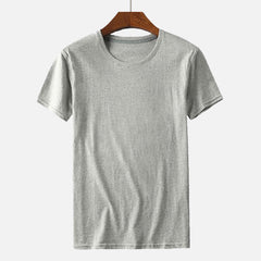 Mens Solid Color Fashion Crew Neck Short Sleeve Casual T-shirts - Slabiti