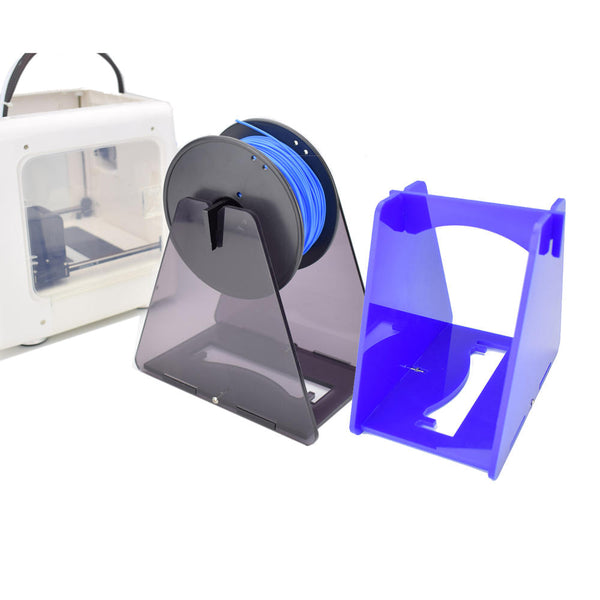 Easythreed Blue/Grey/Orange Acrylic Assembly Bracket 3D Printer Filament Holder - Slabiti