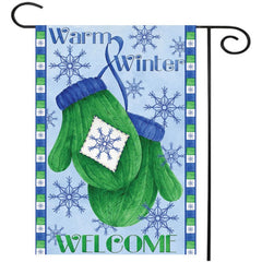 12.5 x18  Christmas Winter Mittens Welcome House Garden Flag Yard Banner Decorations - Slabiti