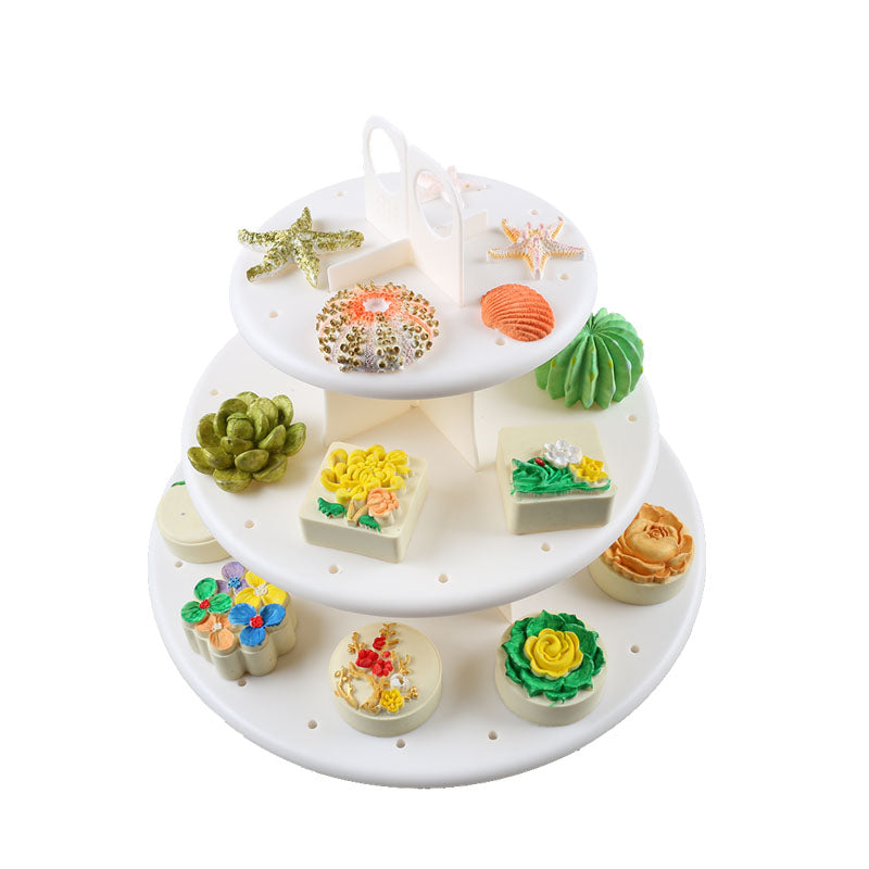 3 Tier Wedding Birthday Party Cake Cupcake Stand Dessert Display Lollipop Holder Cake Decorations - Slabiti