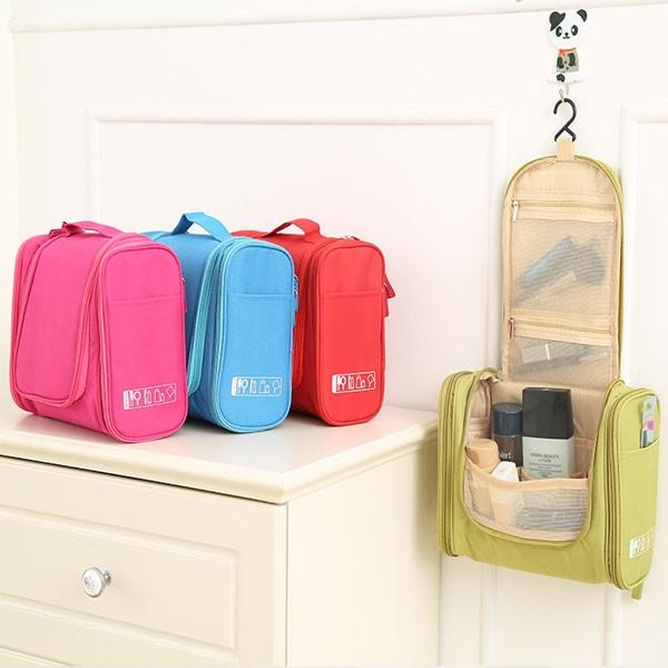 Multifunctional Travel Storage Bag Hanging Beautician Women Cosmetic Handbag Wash Makeup Bag - Slabiti