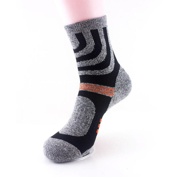Men Winter Outdooors Quick Drying Fiber Running Sports Basketball Socks - Slabiti