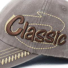 Mens Cotton Washed Baseball Cap CLASSIC Letter Embroidery Adjustable Sports Snapback Hats - Slabiti