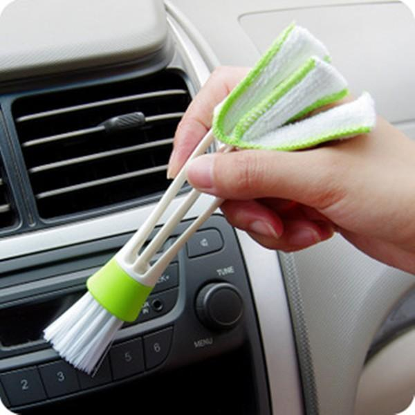 Double Head Car Airbrush Air Condition Louver Instrument Panel Cleaning Tool - Slabiti