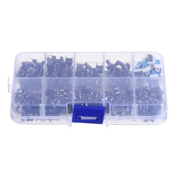 540Pcs 10 Values Tactile Push Button Switch Mini Momentary Tact Assortment Kit DIY - Slabiti