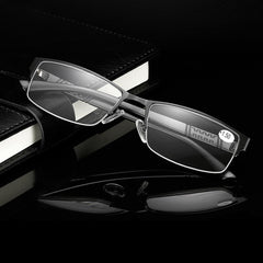 Men Women Round Half-Frame Readers Reading Glasses Stylish Retro Computer Glasses - Slabiti