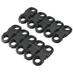 10Pcs Buckles Hook Black For Paracord Bracelets Plastic Clasp Side Release - Slabiti