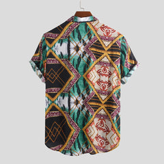 Mens Summer Casual Fashion Pattern Printing Shirts - Slabiti