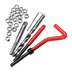 25Pcs M8 x 1.25 x 8mm Helicoil Compatible Thread Tap Repair Tool Cutter Kit Insert - Slabiti