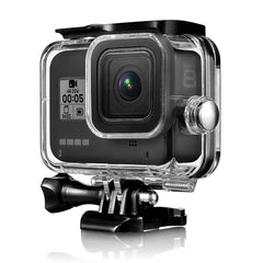 45M Camera Waterproof Case Cover Protector For Gopro Hero 8 Camera 9H Tempered Glass - Slabiti