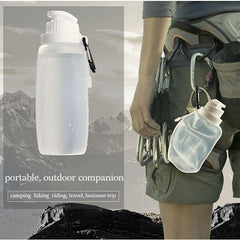 Outdoor Silicone Folding Bottle Cup Camping Hiking Travel Folding Water Bottle Kettle - Slabiti