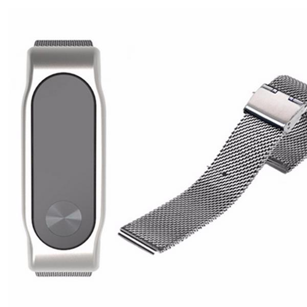 Mijobs Replacement Stainless Steel Frame Bracelet Wristband For Xiaomi Miband 2 - Slabiti