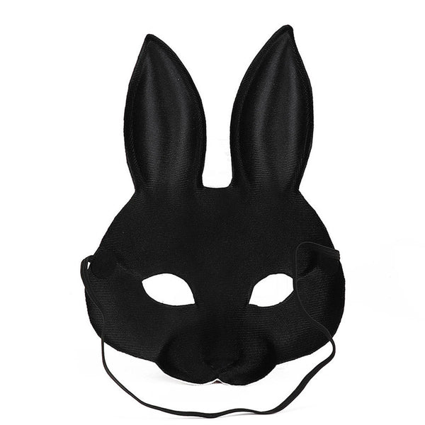 3Type Halloween Rabbit Bunny Long Ears Mask Handmade Animal Decorations Mask 3D Carnival  Women Girl Mask Party Cosplay Rabbit Easter Bunny Costume Cosplay Party Mardi Gras - Slabiti