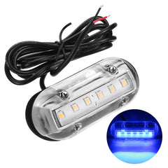 12V Marine Yacht Boat High Intensity Waterproof LED Underwater Light Blue - Slabiti